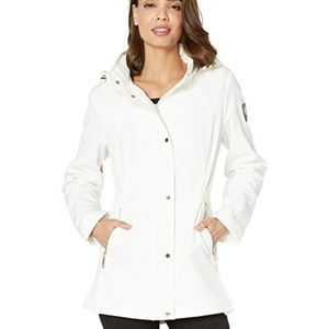 Vince Camuto Hooded White Size XL Rain Jacket